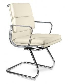 Skórzane krzesło konferencyjne Wye Skid HL