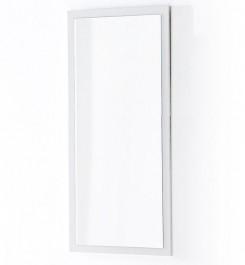 Białe lustro ścienne w wysokim połysku Barney