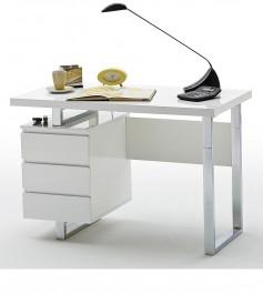 Białe biurko w wysokim połysku Barney 3