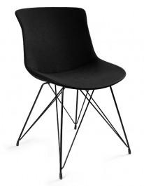 Krzesło do kawiarni tapicerowane tkaniną Easy BR