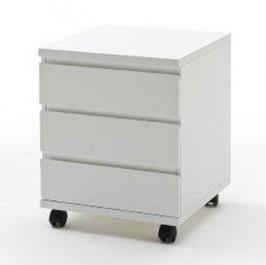 Biały kontenerek pod biurko w wysokim połysku Barney