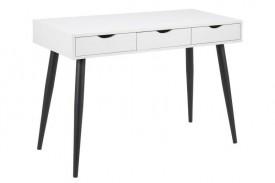 Biało-czarne biurko z szufladami Neptun