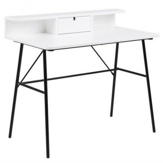 Nowoczesne biurko z nadstawką Pascal