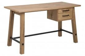 Fornirowane biurko z podręcznymi szufladami Stockholm
