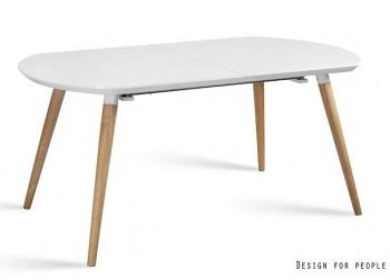Rozkładany biały stół w połysku Helena