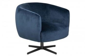 Fotel tapicerowany tkaniną aksamitną Auburn VIC