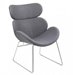 Krzesło biurowe na płozach Cazar tkanina