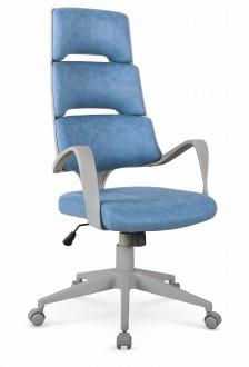 Designerski fotel biurowy tapicerowany ekoskórą Calypso
