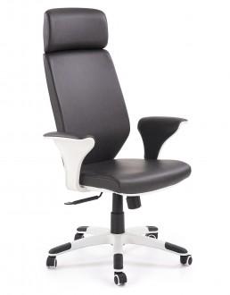Tapicerowane krzesło biurowe z ekoskóry Lonatti