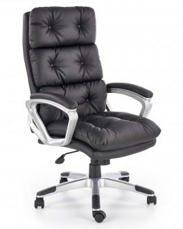 Fotel gabinetowy tapicerowany skórą ekologiczną Stratos