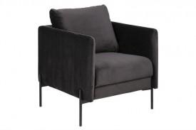 Antracytowy fotel wypoczynkowy Kingsley