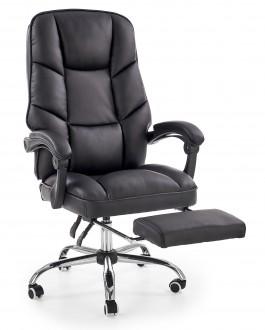 Tapicerowany fotel biurowy z podnóżkiem Alvin