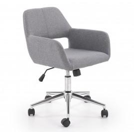 Krzesło biurowe tapicerowane tkaniną Morel
