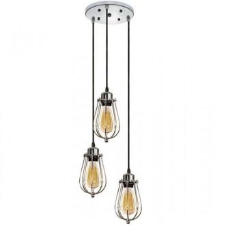Industrialna lampa wisząca Kopenhagen Loft Chrom potrójna
