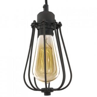 Industrialna lampa wisząca Kopenhagen Dark Rusty pojedyncza