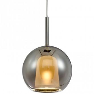 Szklana lampa wisząca z okrągłym kloszem Euforia 2 25cm