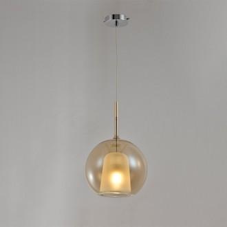 Designerska lampa sufitowa ze szklanym kloszem Euforia 1 16cm