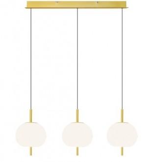 Lampa sufitowa z trzema kloszami i oświetleniem LED Apple 3