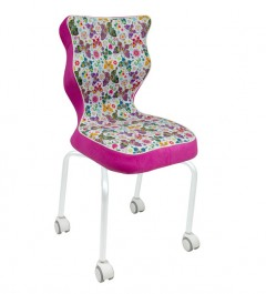Krzesło na kółkach z dziecięcym motywem Rete White