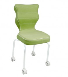 Krzesło dla dzieci na kółkach Rete White