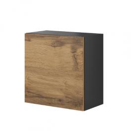 Kwadratowa szafka wisząca Livo W55 dąb wotan