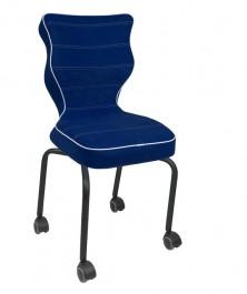 Krzesło dla dzieci z podstawą na kółkach Rete Black