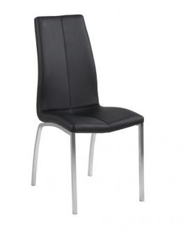 Nowoczesne krzesło do jadalni tapicerowane ekoskórą Asama