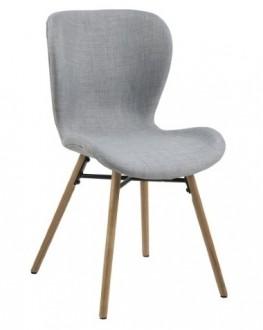 Tapicerowane krzesło jadalniane w stylu skandynawskim Batilda