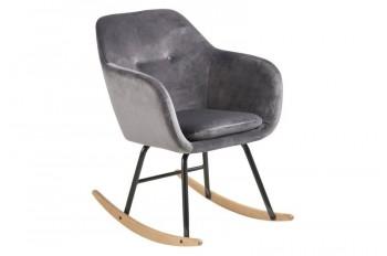 Fotel bujany tapicerowany tkaniną aksamitną Emilia Vic