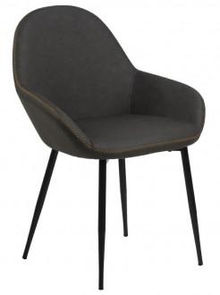 Nowoczesne krzesło tapicerowane ekoskórą Candis Dove Grey PU