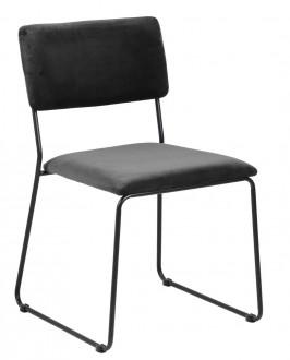 Krzesło konferencyjne tapicerowane tkaniną aksamitną Cornelia Vic