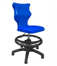 Młodzieżowe krzesło do sal szkolnych z podnóżkiem i stopkami Twist