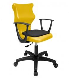 Krzesło do sal lekcyjnych dla młodzieży z podłokietnikami Twist Soft