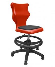 Dziecięce krzesło do sal szkolnych z podnóżkiem i stopkami Twist Soft rozmiar 4