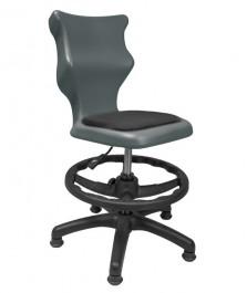 Młodzieżowe krzesło do sal szkolnych z podnóżkiem i stopkami Twist Soft