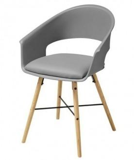 Krzesło z jednoczęściowym siedziskiem i poduszką Ivar