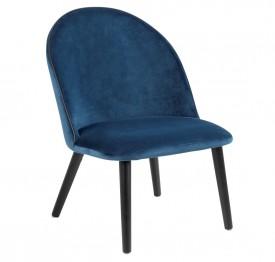 Designerskie krzesło na dębowych nogach Manley VIC Navy Blue
