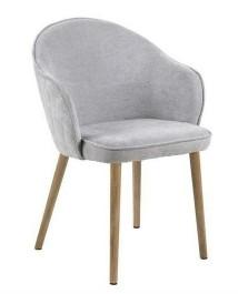 Pikowane krzesło na drewnianych nogach Mitzie Wood