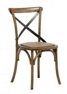 Drewniane krzesło bez podłokietników w stylu retro Vintage