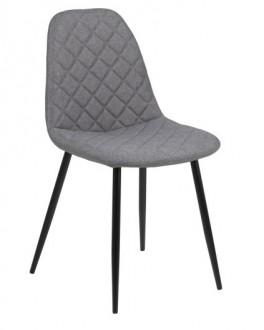 Tapicerowane krzesło z pikowanym siedziskiem Wilma Light Grey