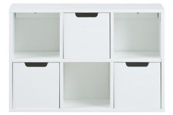 Biały regał z 3 szufladami Mitra