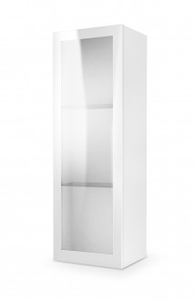 Witryna wisząca z frontem ze szkła Livo W120 biała