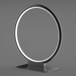 Lampa stołowa Ledowe Okręgi 1 w kolorze czarnym