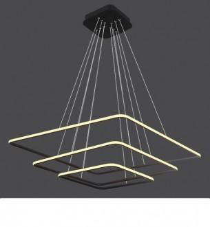 Potrójna lampa wisząca Ledowe Kwadraty 3 Out czarna