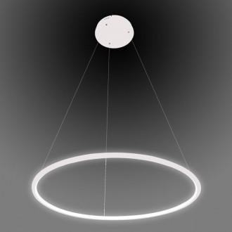 Pojedyncza lampa wisząca Ledowe Okręgi 1 In 60 cm biała