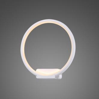 Designerski kinkiet ścienny Ledowe Okręgi Circle In biały