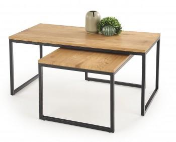 Zestaw dwóch stolików w stylu industrialnym Sabrosa