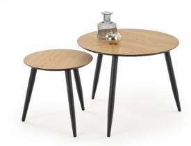 Zestaw dwóch stolików z okrągłym blatem Mentona