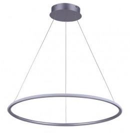Nowoczesna lampa wisząca Ledowe Okręgi 1 60 cm In srebrna