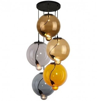 Lampa wisząca z kolorowymi kloszami Modern Glass Bubble CO